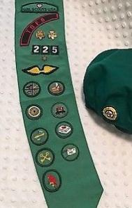Vintage-Girl-Scout-Hat-Badges-Sash-Pins-Girl