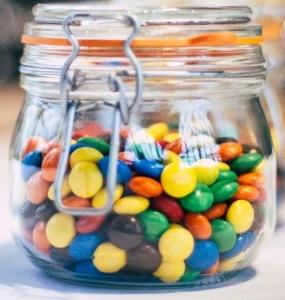 blur candies chocolates close up